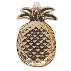 Pineapple Ceramic Decorative Plate Gold