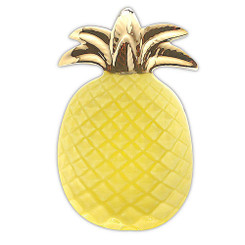 Pineapple Ceramic Decorative Plate Yellow