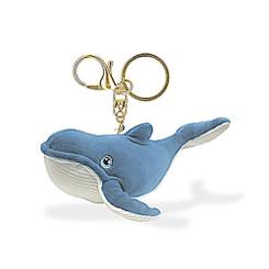 """Key Chain Whale Blue 4.5"""" W x 2.1"""" H"""