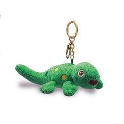 """Key Chain Plush Gecko Green 4.5"""" W x 2.5"""" H"""