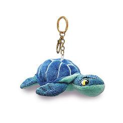 "Key Chain Plush Honu Turtle Blue 4.4"" W x 2.2"" H"