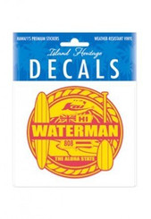 Waterman Red And Yellow 4 Inch x 3.38 Inch Decal Sticker