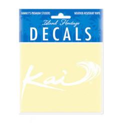 Sticker Decal Small Kai Logo White