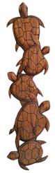 Hawaiian Wood Wall Decoration Five Turtles