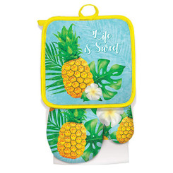 Island Heritage Kitchen Set Life is Sweet Pineapple