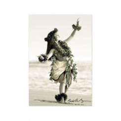 Island Heritage Excellence Hula Girl Tin Magnet