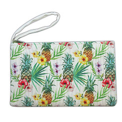 Island Heritage Tropical Clutch Bag Pineapple Hibiscus