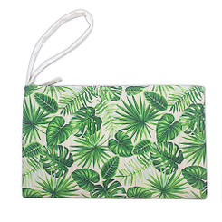 Island Heritage Tropical Clutch Bag Monstera Green