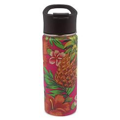 Island Heritage Hawaii Style Island Flask Tumbler Tropical Pineapple Pink