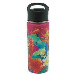 Island Heritage Hawaii Style Island Flask Tumbler Garden Pink