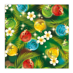 Island Heritage Hawaiian Holiday Gift Wrap Paper Ornaments of  4 Rolls