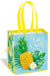 Island Heritage Shopping Tote Bag Life is Sweet Pineapple