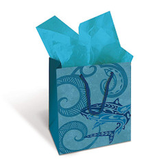 Island Heritage Hawaiian Mini Gift Bag 6 Pack Tribal Shark