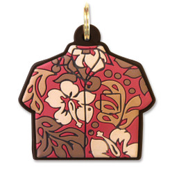 Island Heritage Hawaiian PVC Key Cover Red Shirt