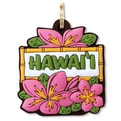 Island Heritage Hawaiian PVC Key Cover Pink Plumeria