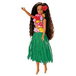 Islander Hawaiian Hula Dancing Girl Doll Nohea Green Skirt