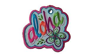Island Heritage Hawaiian Luggage Tag Embroidered Bold Aloha