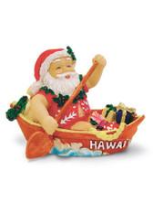 Island Heritage Canoeing Santa Ornament
