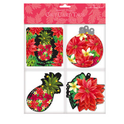 Island Heritage Pineapple Floral 12 Pack Hawaiian Holiday Gift Tags