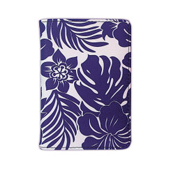 Island Heritage Hawaiian Style Passport Holder Hibiscus Floral Blue
