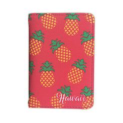 Island Heritage Hawaiian Style Passport Holder Pineapple Pink