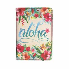 Island Heritage Hawaiian Style Passport Holder Aloha Floral
