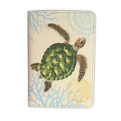 Island Heritage Hawaiian Style Passport Holder Honu Turtle Voyage