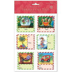 Island Heritage Mele Stamps 3D Adhesive Holiday Gift Tags