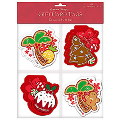 Island Heritage 12 Pack Holiday Delights Gift Tags