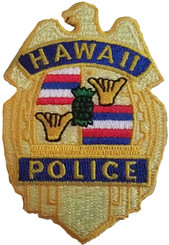Hawaii Police Iron-On Embroidery Applique Patch