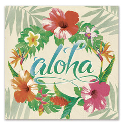 Hawaiian Beverage Paper Luau Party Cocktail Napkins 20 pack Aloha Floral