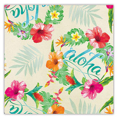 Aloha Floral Hawaiian Continuous Wrapping Paper 2 Rolls