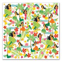 4 Packs Hawaiian Cocktail Beverage Paper Party Napkins Island Hula Honeys