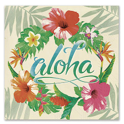 4 Packs Hawaiian Cocktail Beverage Paper Party Napkins Aloha Floral