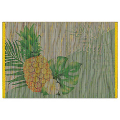Welcome to the Islands Hawaiian Style Bamboo Placemat Set of 4 Life is Sweet
