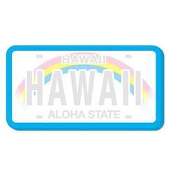 Value Pack 6 Die-Cut Stick n Notes License Plate Hawaii