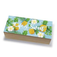 Tropical Island Coastal Wood Jewelry Trinket Box Life is Sweet