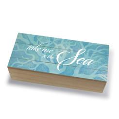 Tropical Island Coastal Wood Jewelry Trinket Box Take Me to the Sea