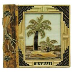 "Hawaii Photo Album Bamboo & 2 Palms 9"" x 11"""