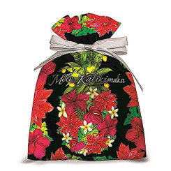 Island Heritage 3 Pack Hawaiian Large Drawstring Bags Pineapple Floral