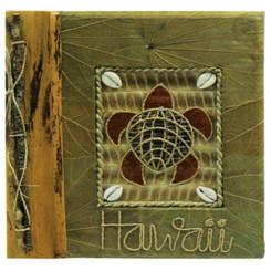 Hawaiian Photo Album Turtle With Green Leaf 9 X 11 Inch
