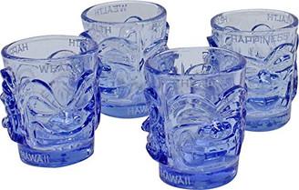 Shot Glass Ooga-Shaka Tiki Light Blue (set of 4)