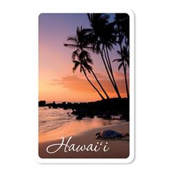 Hawaii Honu Turtle Sunset Playing Cards