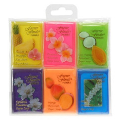 Hawaiian Forever Florals Paper Soap Assorted 6 Pack
