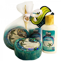 Hawaiian Bubble Shack Loofah Soap & Body Lotion Duo Gift Set Ocean Bliss