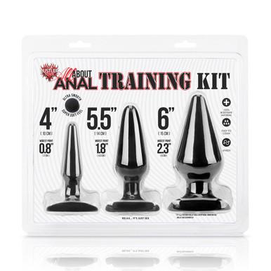 Hustler 3-Piece Anal Training Set (HT-BKIT BLK)