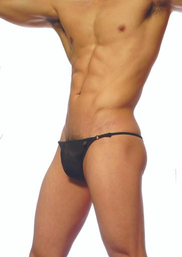 Groovin' Underwear Mesh Bikini Black