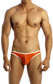 Groovin' Underwear Accent V-Cut Bikini Orange Front View
