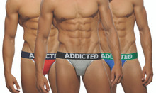 Addicted Underwear 3-Pack Basic Jockstraps AD363P (AD363P-3COL)