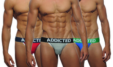 Addicted Underwear 3-Pack Basic Jockstraps AD363P (AD363P-3COL)